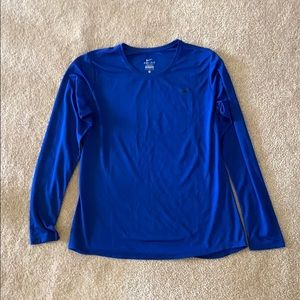 Royal Blue Nike Dry Fit Long Sleeve